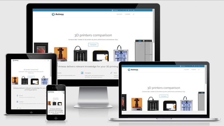 Une plateforme sur l'impression 3d pour les professionnels : aniwaa.fr